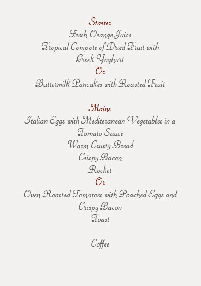 formal dinner party menu template
